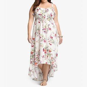 TORRID Challis Floral Maxi hi-lo Dress